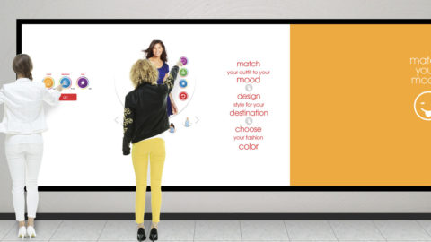 A digital outfit finder with endless aisle suggestions and filtering based on mood and purpose.